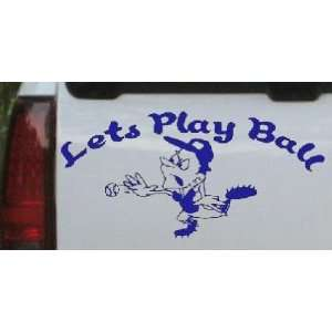 Lets Play Ball Baseball Pitcher Sports Car Window Wall Laptop Decal