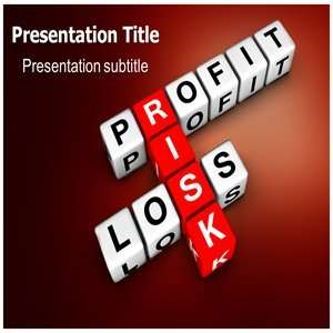 Risk Powerpoint Templates   Background for Powerpoint Profit and Risk