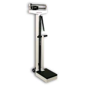 Detecto 448 Balance Beam Doctor/Physician Scale w/ Height Rod, Wheels