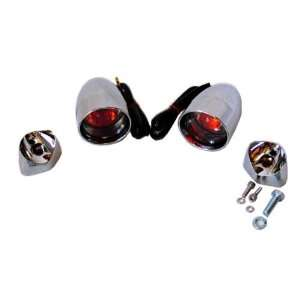 Chrome Deuce Style Smoked Lens and Amber 1156 Bulb Turn Signals with