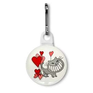 CAT HEARTS Valentines Day 1 inch Zipper Pull Charm
