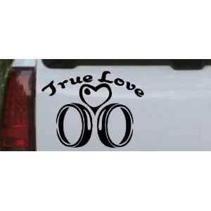 True Love Wedding Rings Heart Car Window Wall Laptop Decal Sticker