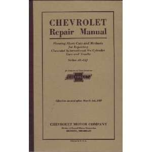1929 1930 CHEVROLET CAR TRUCK Shop Service Manual