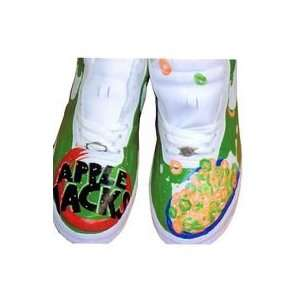 Custom Painted Cereal Nike Air Force One Low Top (White/Apple Jacks