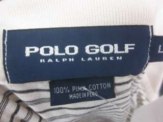 POLO GOLF RALPH LAUREN Mens Striped Polo Shirt Large