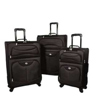 American Tourister Spring Ranch 3 Piece Spinner Luggage Set (Red)