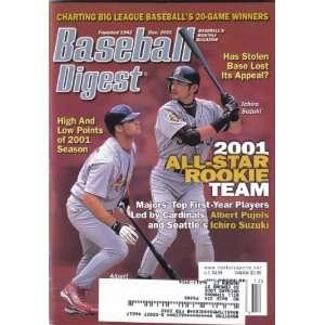 Baseball Digest December 2001, Albert Pujols of St. Louis Cardinals