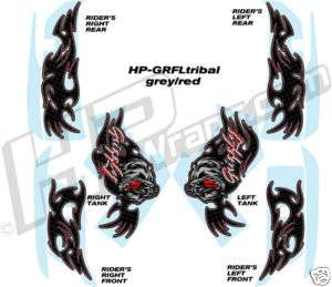 YAMAHA GRIZZLY 660 700 GRAPHICS KIT Decals Stickers RED
