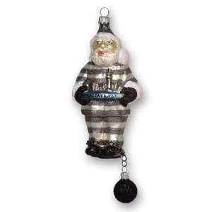 Glass Christmas Ornament, Alcatraz Santa, Exclusive Mold