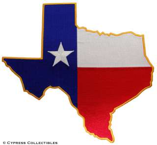 TEXAS STATE FLAG PATCH LARGE EMBROIDERED IRON ON EMBLEM