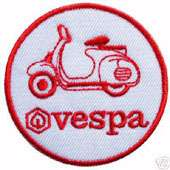 VESPA (RED) PATCH scooter ska lambretta mod rude boy