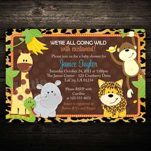 20 Leopard Jungle Zoo Safari Friends Baby Shower or Birthday
