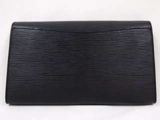 VINTAGE LOUIS VUITTON EPI BLACK ART DECO GM ENVELOPE CLUTCH BAG LARGE
