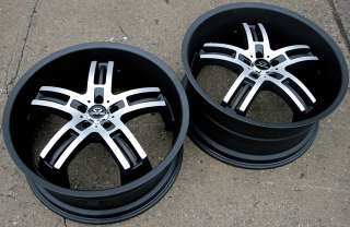 LORENZO WL026 22 BLACK RIMS WHEELS DODGE MAGNUM RT BASE