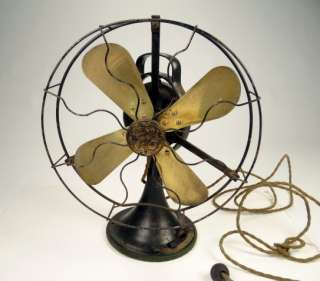 ANTIQUE GENERAL ELECTRIC BRASS BLADE FAN