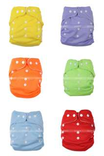 BABY POCKET CLOTH NAPPY DIAPER ONE SIZE FITS ALL 6 Colors