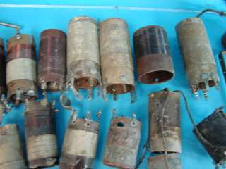 Lot of 28 Antique Shortwave Ham Radio Coils Tube Parts Variometer