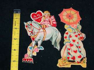 This item is 2 Antique Cutout VALENTINE CARDS w/ Movable Parts
