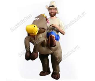 Inflatable Illusion Cowboy&Horse Rider Suit Hallowe Costume Cospaly