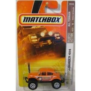 ALL Terrain 164 Scale Die Cast Metal Car # 91   Volkswagen 4x4 Orange