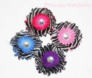 Zebra Print Style Daisy Flower Hair Clip For Pettiskirt