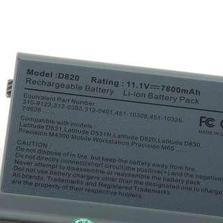 Replacement Dell Latitude D531 D820 D830 Battery 9 cells