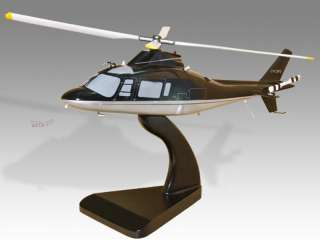 Agusta 109C Wood Desktop Helicopter Model