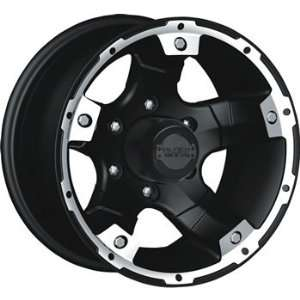 Black Rock Viper 15x8 Black Wheel / Rim 5x5.5 with a  19mm