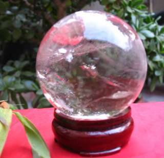 Big NATURAL transparent QUARTZ CRYSTAL SPHERE BALL Healing