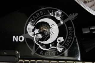 Kirk Hammett Ouija Guitar Body AND Neck Sticker Decals