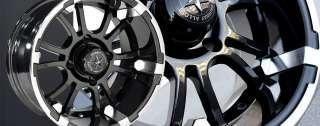 Alloys 12 x 7 Sixer FA132 FA 132 Golf Cart Car Rim Wheel Set FA132