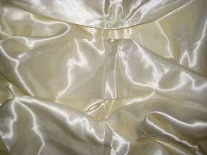 NEW IVORY SATIN WEDDING DECORATING FABRIC ROLL 40 YRDS