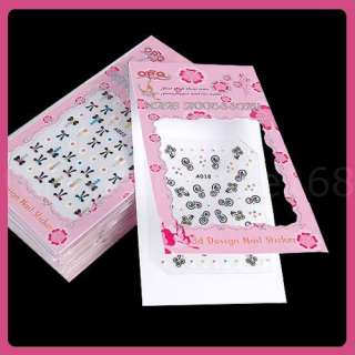 20 Sheets 3D Nail Art Stickers mix design tips Decals