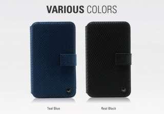 ZENUS Samsung Galaxy Note Case N7000 i9220 PRESTIGE CARBON DIARY TYPE