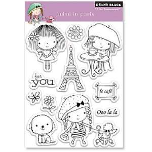 Penny Black Clear Stamps 4X6 Sheet Mimi In Paris