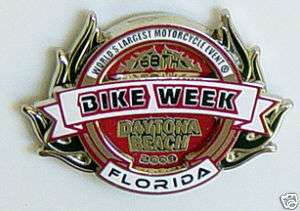 New 2009 Official Daytona Bike Week Motorcycle Pin