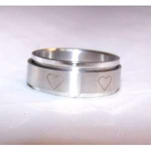 Spinner Ring Hearts Size 8 8694: Everything Else