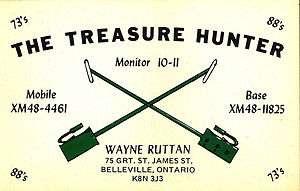 vintage CB radio QSL postcard metal detector Ruttan 1970s Belleville