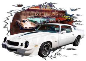 You are bidding on 1 1979 White Chevy Camaro Custom Hot Rod Diner