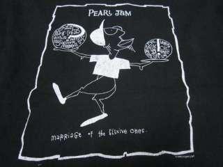 PEARL JAM BOUNDLESS GRUNGE ROCK CONCERT VINTAGE 90s T SHIRT RARE