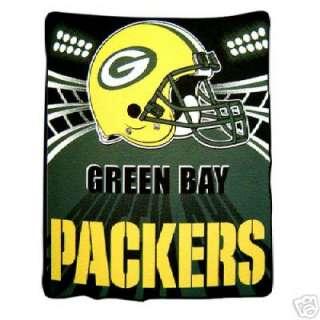 NFC NFL GREEN BAY PACKERS FOOTBALL FLEECE BLANKET 2010 SUPER BOWL