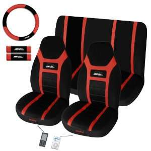 Super Speed 7 Pc Ipocket Seat Cover Set Red Car Truck Bucket Seat