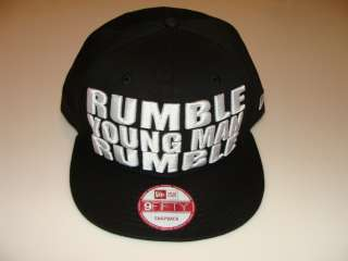 New Era Hat Cap Muhammad Ali RUMBLE YOUNG MAN Snapback Quote Black