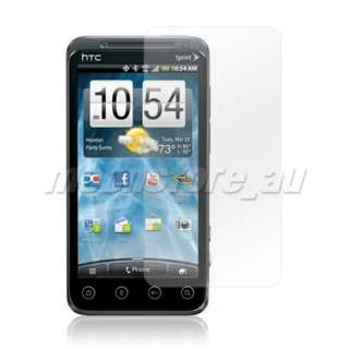 CARBON FIBRE FLIP HARD BACK CASE COVER + SCREEN PROTECTOR FOR HTC EVO