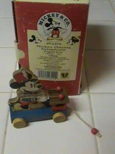 DISNEY MICKEY MOUSE PLAYING XYLOPHONE FIGURINE #363375 NEW IN BOX