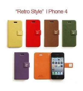 TABLE TALK FAUX LEATHER FLIP CASE IPHONE 4G 4S COVER POUCH ANTENNASHOP