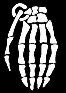 20in BIG Grenade Gloves Skull Hand Logo Decal/Sticker