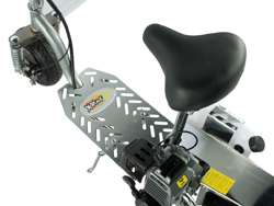 499 Fast 50cc Gas Chrome Scooter, Folds, Shocks, 30 mph & Disc Brakes