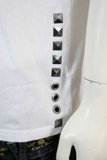 New Christian Audigier Rhinestones LUX T Shirt Tee CA