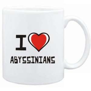 Mug White I love Abyssinians  Cats